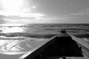 The boat at dawn.