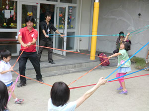 AAR staff joined in the fun at a preschool festival, helping kids forget the recent events for a while.