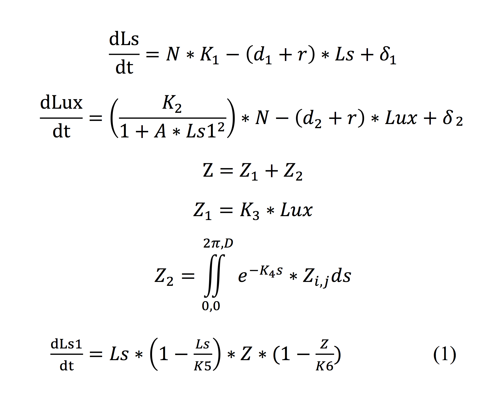 Equation For Light