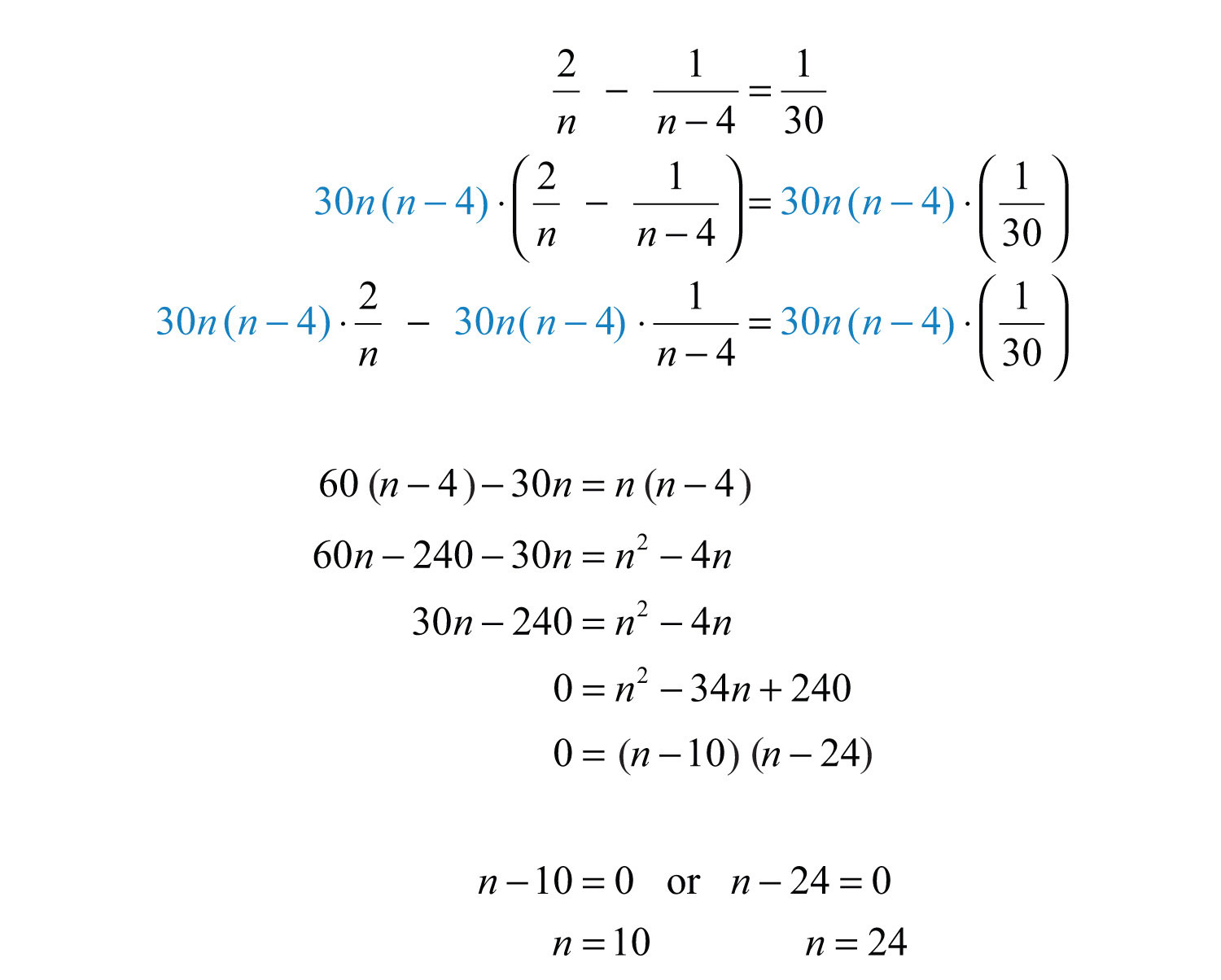 Applications Of Rational Equations
