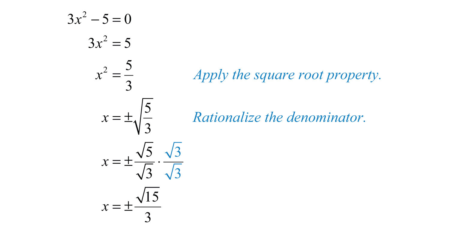 Guidelines For Solving Quadratic Equations And Applications