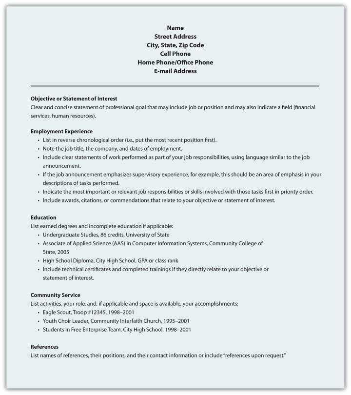 figure 13 12 sample format for functional résumé