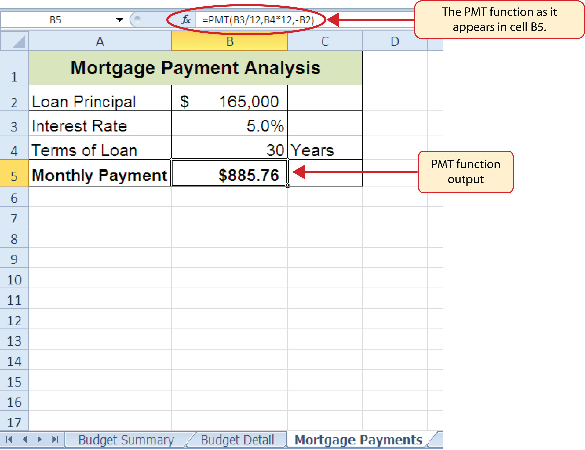 Download Excel Formula Loan Payment