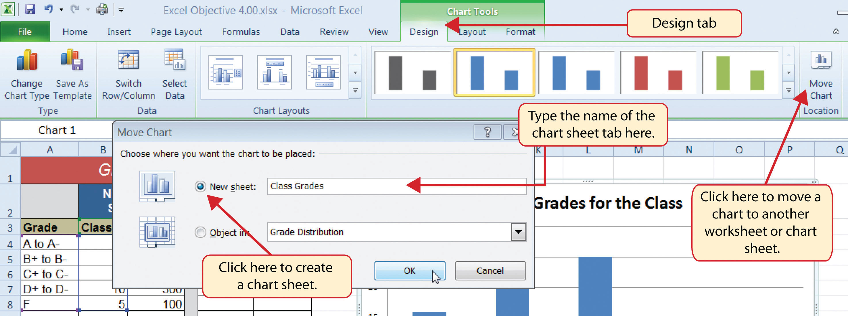 Insert Chart As New Sheet In Excel