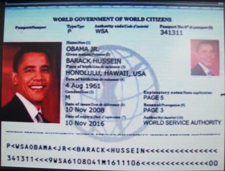 Passaporto di Obama: alcune considerazioni