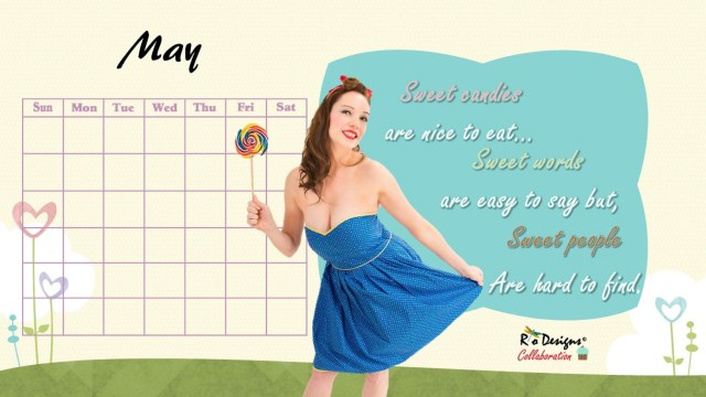 Love for Pin Up Calendar May
