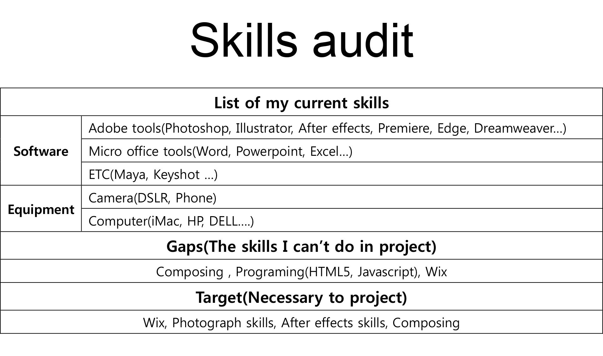 2 3 Skills Audit