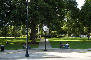 English: Central Square in Waltham, Massachusetts.