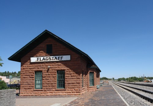 Downtown Flagstaff Train Station. Courtesy of WikiMedia user Jonesey, under a Creative Commons license.