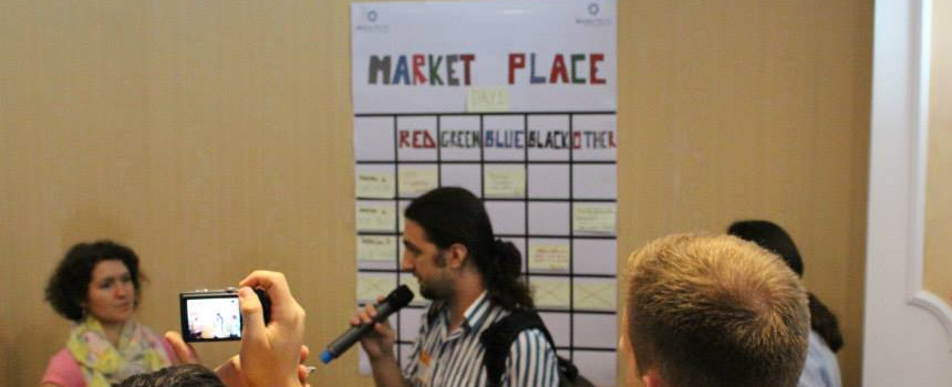 One attendee proposes a session for the marketplace
