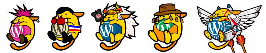 Несколько вариантов Wapuu