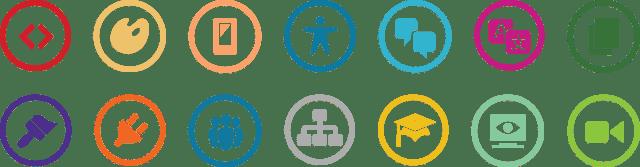The WordPress Contributor team icons