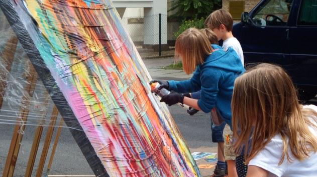 Beim Künstlern; Foto: M. Geißler