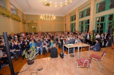 Informationsveranstaltung in der Sportmittelschule; Foto: Andreas Reichelt