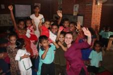 Ariana visiting a local anganwadi.