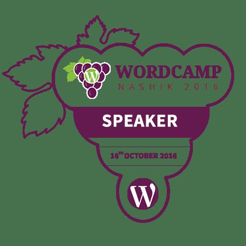 I'm Speaking at WordCamp Nashik 2016