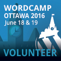 I'm volunteering at WordCamp Ottawa 2016
