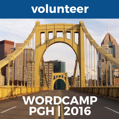 WordCampPittsburgh Volunteer Badge