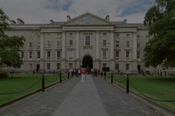 Iconic Campus Entrance darkened