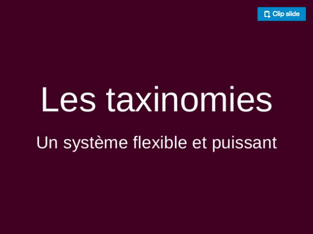 Slides Frédéric Demarle WordCamp Bordeaux 2017 - Les taxonomies, un système flexible et puissant