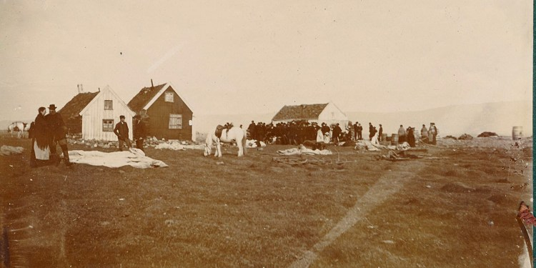 Eyrin í kringum 1907. Ljósmyndari Ingrid Hansen. Varðveitt í HSk.