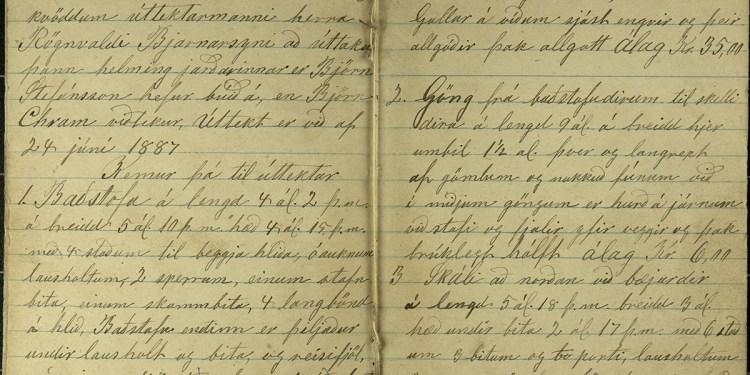 Hér má sjá fyrstu úttektarbókina sem við birtum á vefnum en það er úttektarbók úr Akrahreppi frá 1840 til 1911.