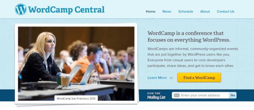 image of WordCamp Central website