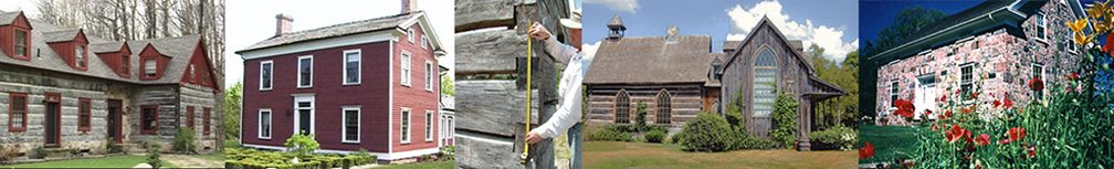Early log homes, and pioneer post & beam and stone homes
