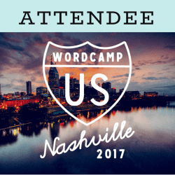 I'm attending WordCamp US 2017