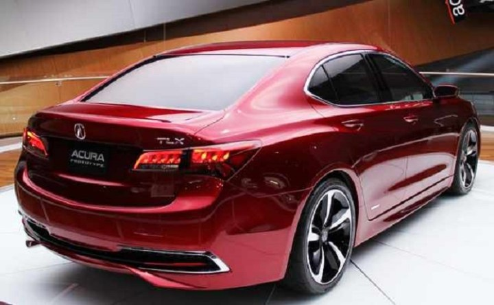 2017 Acura TLX rear view