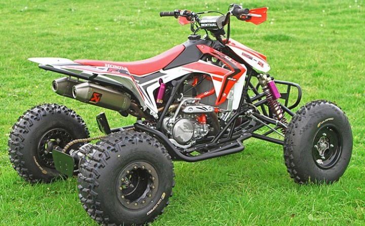 2017 Honda TRX450R rear view