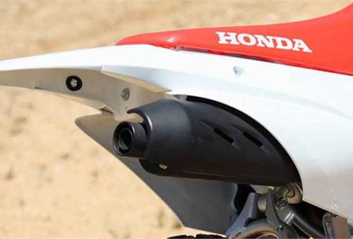 2018 Honda CRF110F exhaust