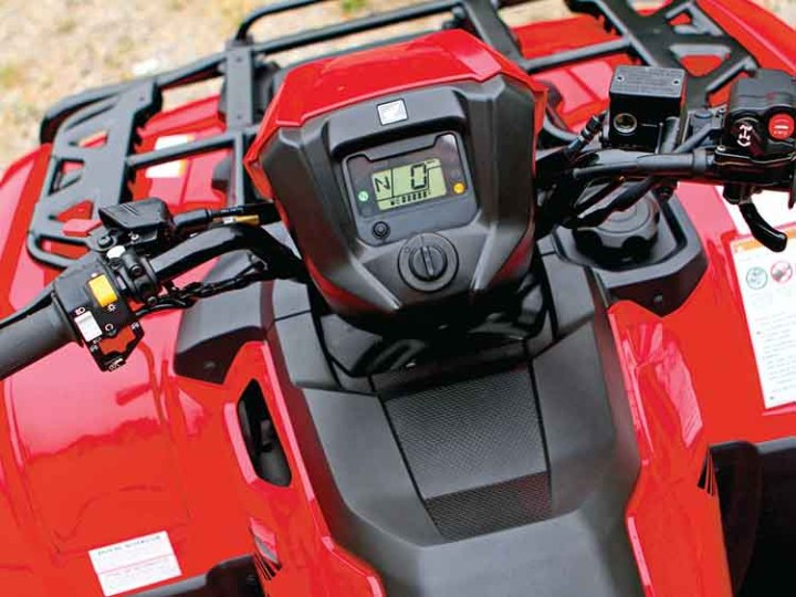 2018 Honda Rancher 420 dashboard
