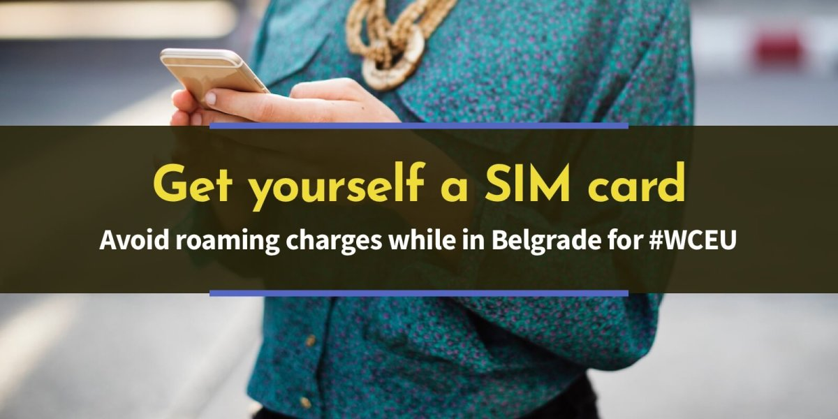 Get yourself a SIM while in Belgrade for #WCEU – WordCamp Europe 2018