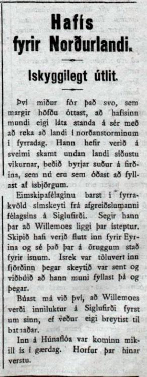 Morgunblaðið 8. janúar 1918.