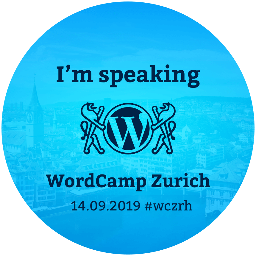 Speaker Badge vom WordCamp Zürich am 14.09.2019