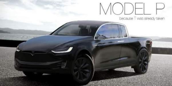 Tesla Pickup Truck Concept Model P