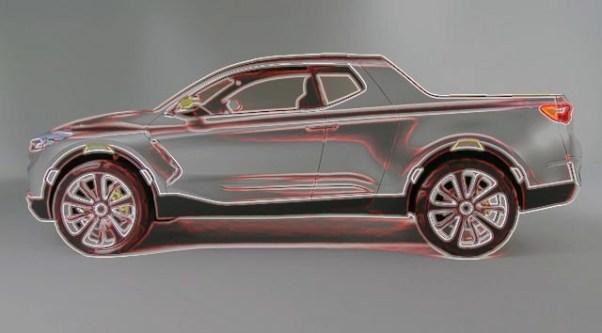 2020 Hyundai Santa Cruz side