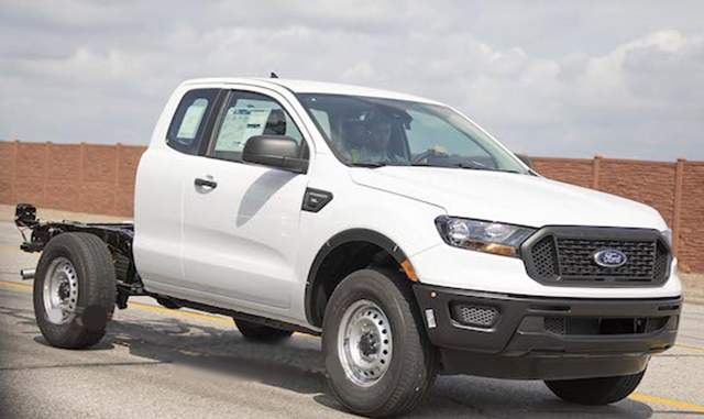 2019 Ford Ranger XL Chassis Cab spied