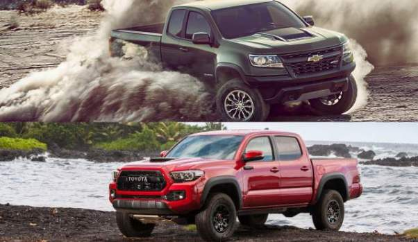 2019 Chevrolet Colorado ZR2 vs 2019 Toyota Tacoma TRD Pro