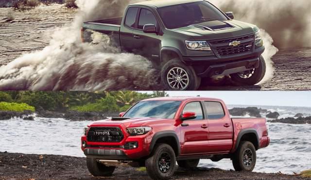 2019 Chevrolet Colorado ZR2 vs 2019 Toyota Tacoma TRD Pro