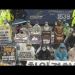 【よそでやれ】慰安婦団体、慰安婦像撤去団体が日本大使館前に集結し緊張へ