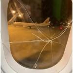 失恋まんさんが飛行機内で大暴れ。窓パンチしたらヒビが入はいって緊急着陸