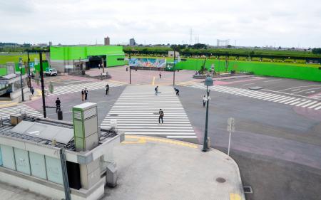 本物そっくり 栃木に「スクランブル交差点」誕生
