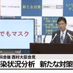 【画像】 西村大臣が新たな新型コロナ対策を発表