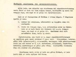 Ekki gleyma niðursoðnum mat, rúgkexi, feitmeti og mataráhöldum