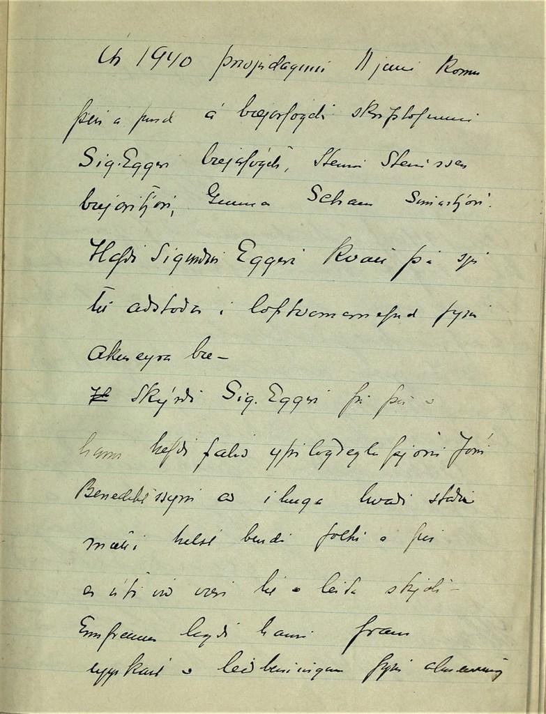 Fundargerð fyrsta fundar loftvarnarnefndar Akureyrar.