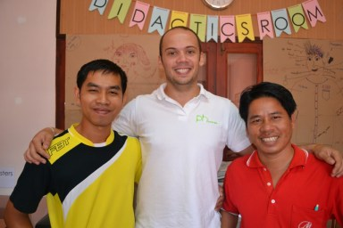 David with his tandem-partners