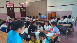Group work - still a rare sight in Lao schools