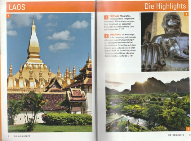 "Preface of the table of contents - excerpt from ""Laos – Travel Handbücher"", © 2015 MAIRDUMONT GmbH & Co. KG"
